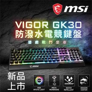 MSI 微星 Vigor GK30 RGB電競鍵盤《中文版》