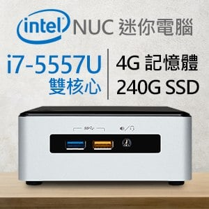 Intel 小型系列【mini學步車】i7-5557U雙核 迷你電腦(4G/240G SSD)