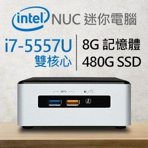 Intel 小型系列【mini摩托車】i7-5557U雙核 迷你電腦(8G/480G SSD)