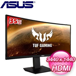 ASUS 華碩 TUF Gaming VG35VQ 35型 WQHD 21:9曲面電競螢幕