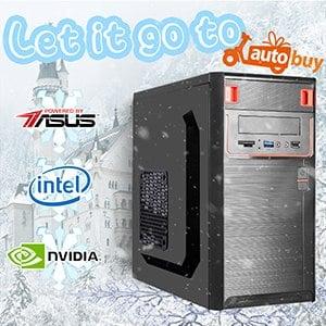 華碩 電玩系列【冰雪奇緣】i3-9100F四核 GT1030 娛樂電腦(8G/480G SSD)