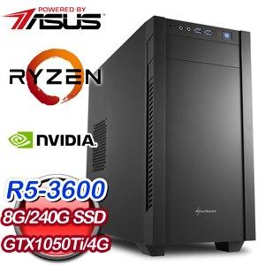 華碩 電玩系列【降魔禪杖I】AMD R5 3600六核 GTX1050Ti 娛樂電腦(8G/240G SSD)