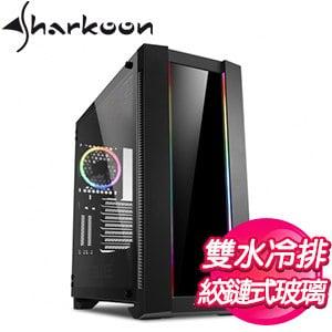 Sharkoon 旋剛【CA200G 鋼化玻璃版】玻璃透側 E-ATX電腦機殼《黑》