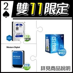 ☆雙11★ G4900 處理器+WD 藍標 1TB 硬碟(X5)+WD 藍標 2TB 硬碟(X2)