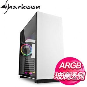 Sharkoon 旋剛【鋼鐵者】RGB 玻璃透側 E-ATX電腦機殼《白》