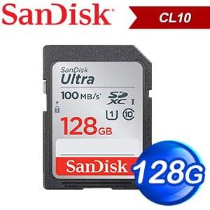 SanDisk 128GB Ultra SDXC Class10 記憶卡(100MB/s)