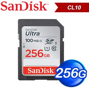 SanDisk 256GB Ultra SDXC Class10 記憶卡(100MB/s)