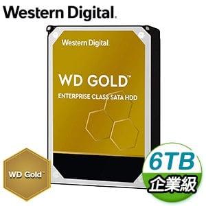 WD 威騰 6TB 3.5吋 7200轉 企業級資料中心硬碟《金標》WD6003FRYZ-5Y