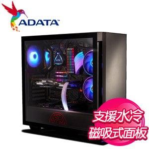 ADATA 威剛【XPG INVADER侵略者】玻璃透側 ATX電競機殼《黑》