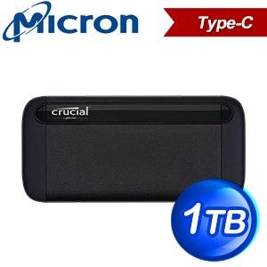 Micron 美光 Crucial X8 1TB U3.1 Type C外接式SSD