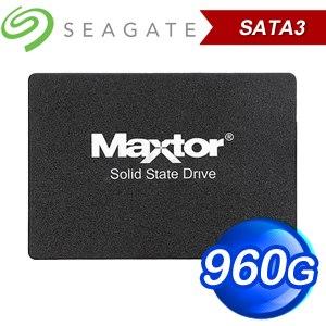 Seagate 希捷 Maxtor Z1 960G 2.5吋 SATA SSD(讀:540M/寫:475M/TLC) YA960VC1A001