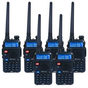 【隆威 Ronway】F2 VHF/UHF 雙頻 無線電對講機 黑幕版 6入組《迷彩》