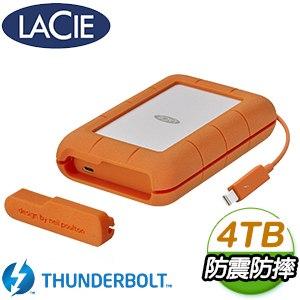 LaCie 4TB Rugged Thunderbolt & U3 TypeC 2.5吋外接硬碟(STFS4000800)
