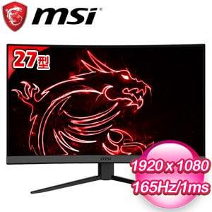 MSI 微星 Optix MAG272C 27型 165Hz電競曲面螢幕