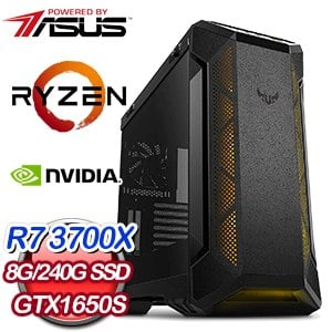華碩 電競系列【聖劍審判】AMD R7 3700X八核 GTX1650S 超頻電腦(8G/480G SSD)