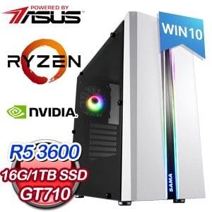 華碩 電玩系列【生死之輪II】AMD R5 3600六核 GT710 娛樂電腦(16G/1TB SSD/WIN 10)