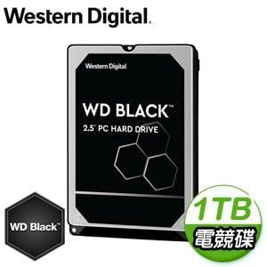 WD 威騰 1TB 2.5吋 7200轉 64MB快取 黑標電競硬碟(WD10SPSX-5Y)