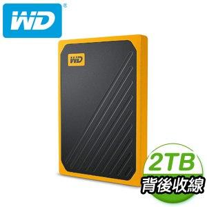 WD 威騰 My Passport Go 2TB 外接SSD固態硬碟《黑/琥珀黃》(WDBMCG0020BYT)