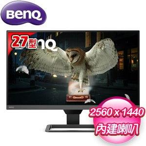 BenQ 明基 EW2780Q 27型 2K類瞳孔影音護眼螢幕