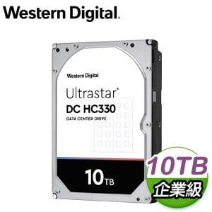 WD 威騰 Ultrastar DC HC330 10TB 3.5吋 7200轉 256MB快取 企業級硬碟(WUS721010ALE6L4)