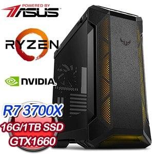 華碩 電競系列【一劍無悔I】AMD R7 3700X八核 GTX1660 超頻電腦(16G/1T SSD)