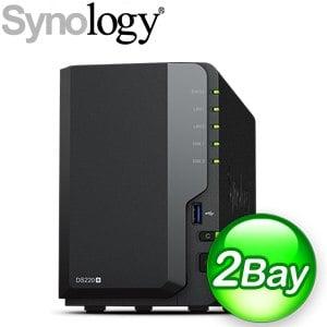 Synology 群暉 DiskStation DS220+ 2Bay NAS網路儲存伺服器