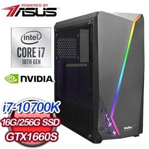 華碩 電競系列【十裡洋場】i7-10700K八核 GTX1660S 遊戲電腦(16G/256G SSD)