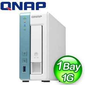 QNAP 威聯通 TS-131K 1-Bay NAS 網路儲存伺服器(不含硬碟)