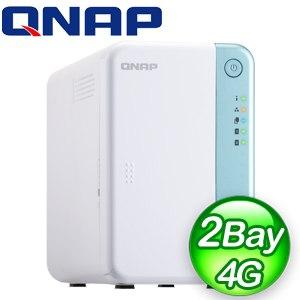 QNAP 威聯通 TS-251D-4G 2-Bay NAS 網路儲存伺服器(不含硬碟)