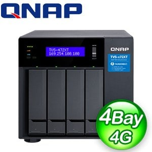 QNAP 威聯通 TVS-472XT-PT-4G 4-Bay NAS 網路儲存伺服器(不含硬碟)