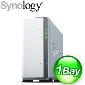 Synology 群暉 DiskStation DS120j 1-Bay NAS網路儲存伺服器