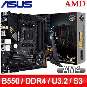 ASUS 華碩 TUF GAMING B550M-PLUS(WI-FI) AM4主機板 (M-ATX/3+2年保)