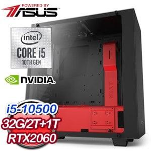 華碩 電玩系列【MSN-04】i5-10500六核 RTX2060 娛樂電腦(32G/1T SSD/2T)