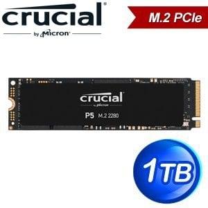 Micron 美光 Crucial P5 1TB M.2 PCIe SSD固態硬碟(讀:3400M/寫:3000M)
