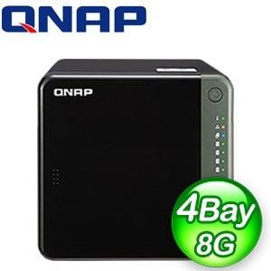QNAP 威聯通 TS-453D-8G 4-Bay NAS 網路儲存伺服器(不含硬碟)