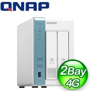 QNAP 威聯通 TS-231P3-4G 2-Bay NAS 網路儲存伺服器(不含硬碟)