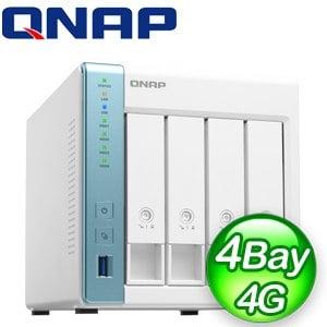 QNAP 威聯通 TS-431P3-4G 4-Bay NAS 網路儲存伺服器(不含硬碟)