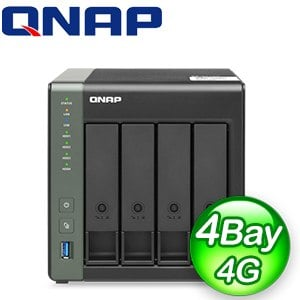 QNAP 威聯通 TS-431X3-4G 4-Bay NAS 網路儲存伺服器(不含硬碟)