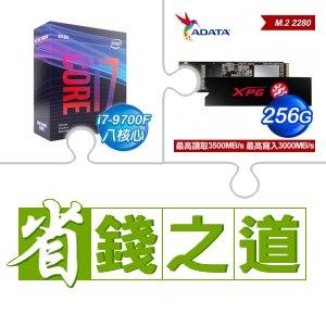 ☆自動省★ i7-9700F(X2)+威剛 XPG SX8200 PRO 256G M.2 PCIe SSD(X3)