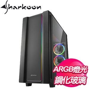 Sharkoon 旋剛【REV220 顛覆者2】玻璃透側 ATX電腦機殼《黑》