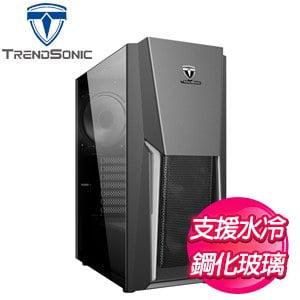 TrendSonic 翰欣【鷹眼】玻璃透側 E-ATX電腦機殼《黑》