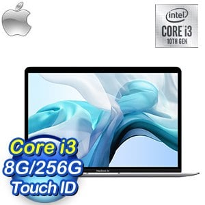 Apple MacBook Air 13吋 1.1GHz第10代i3/8G/256G 筆記型電腦(MWTK2TA/A)《銀色》