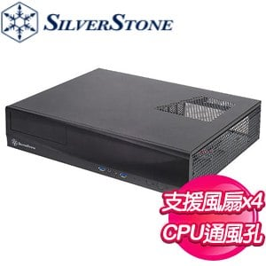 SilverStone 銀欣 ML03 機殼《黑》(M-ATX/短板顯卡/CPU散熱70mm/HTPC) ML03B