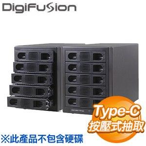 伽利略 Type-C USB3.1 Gen2 五層抽取式硬碟外接盒(35D-U315)