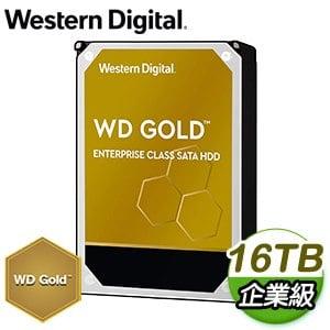 WD 威騰 16TB 3.5吋 7200轉 企業級資料中心硬碟《金標》WD161KRYZ-5Y