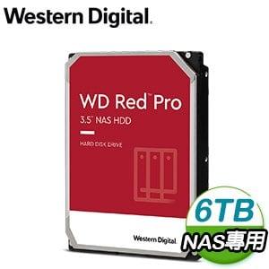 WD 威騰 6TB 3.5吋 7200轉 256MB Red Pro 旗艦紅標 NAS硬碟(WD6003FFBX-5Y)