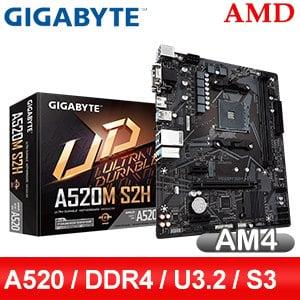 Gigabyte 技嘉 A520M S2H AM4主機板(M-ATX/3+1年保)