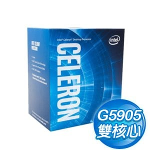Intel 第十代 Celeron G5905 雙核心處理器《3.5Ghz/LGA1200》(代理商貨)