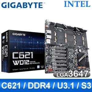 【客訂】Gigabyte 技嘉 C621-WD12 LGA3647伺服器主機板 (E-ATX/雙CPU/3年保)