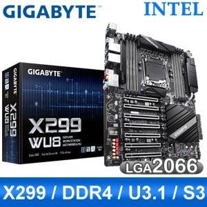 【客訂】Gigabyte 技嘉 X299-WU8 LGA2066伺服器主機板 (E-ATX/3年保)
